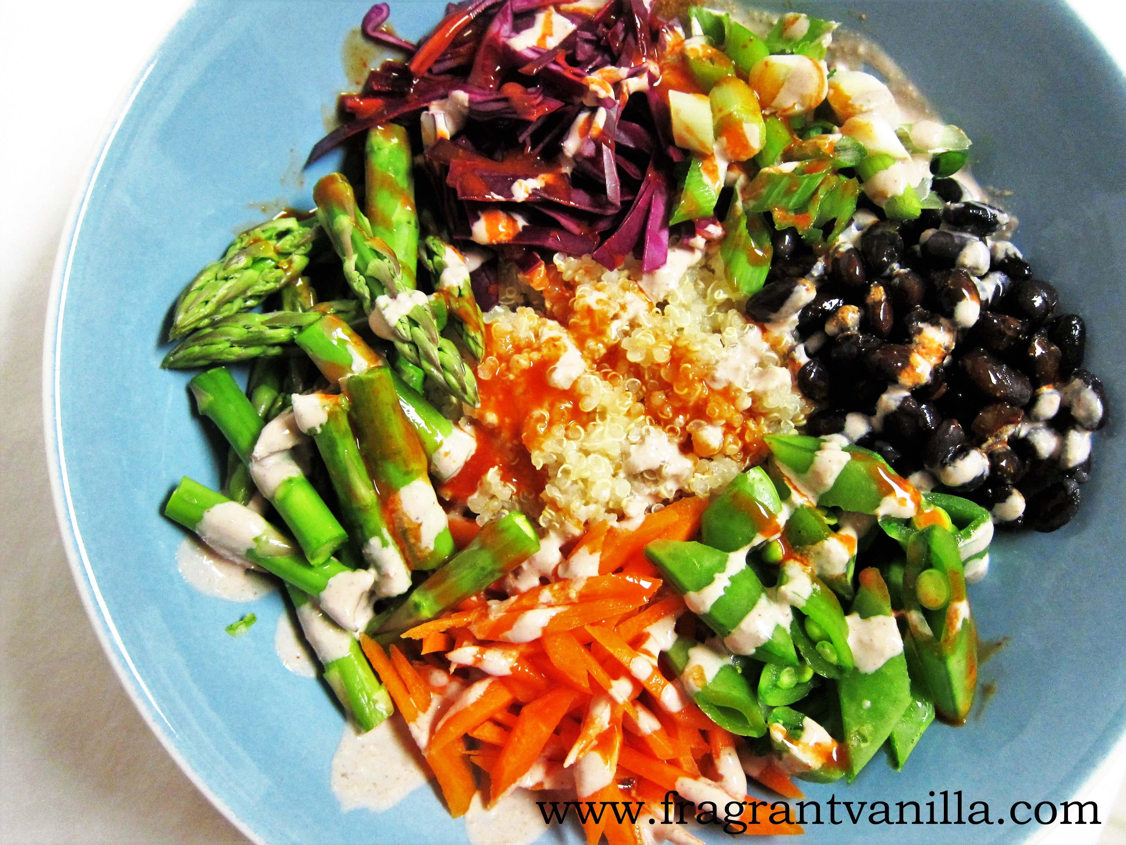 Quinoa Veggie Black Bean Bowl