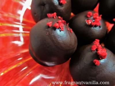 Raspberry Marzipan Truffles 3