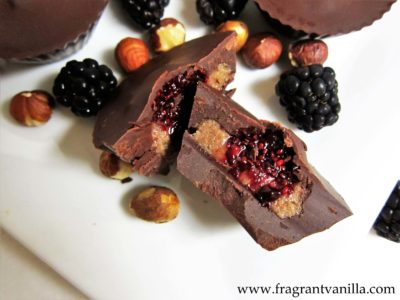Blackberry Jam and Hazelnut Butter Cups 1
