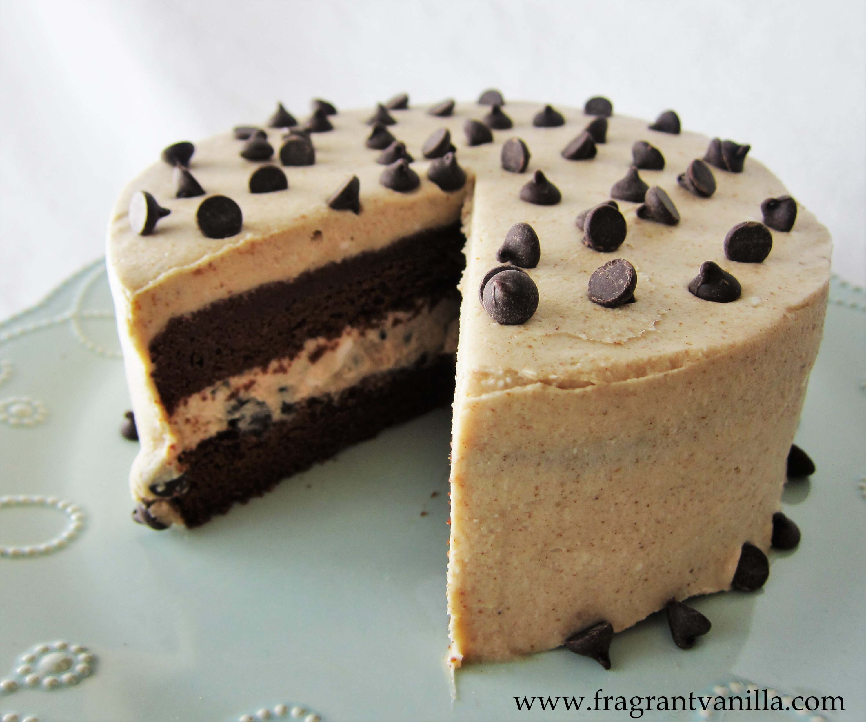 Vegan Brownie Cookie Dough Cake