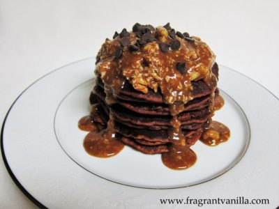 German Chocolate Pancakes 2