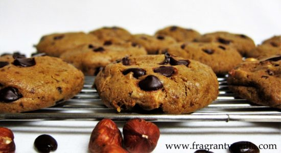 Hazelnut Coffee Chocolate Chip Cookies 1