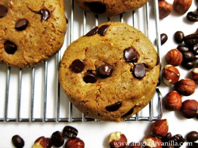 Hazelnut Coffee Chocolate Chip Cookies