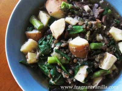 Sping Asparagus, Ramp and Lentil Stew 1