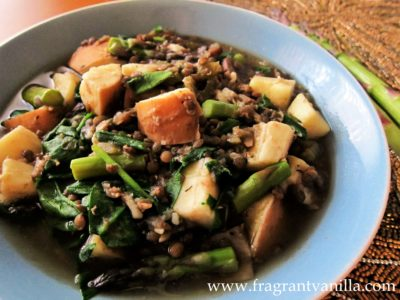 Sping Asparagus, Ramp and Lentil Stew 2