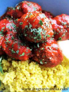 vegan moroccan meatballs
