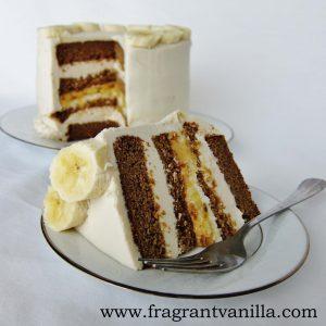 Banana PB Cake