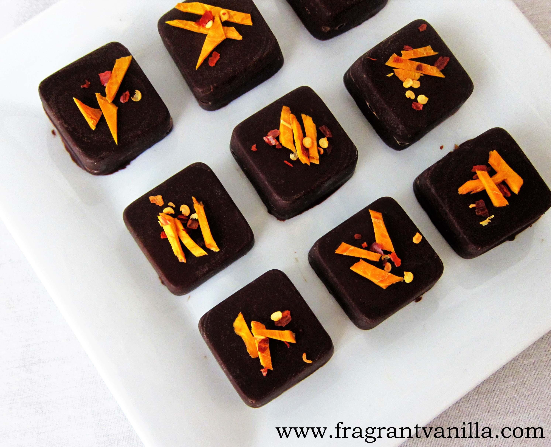 Vegan Chili Mango Dark Chocolates