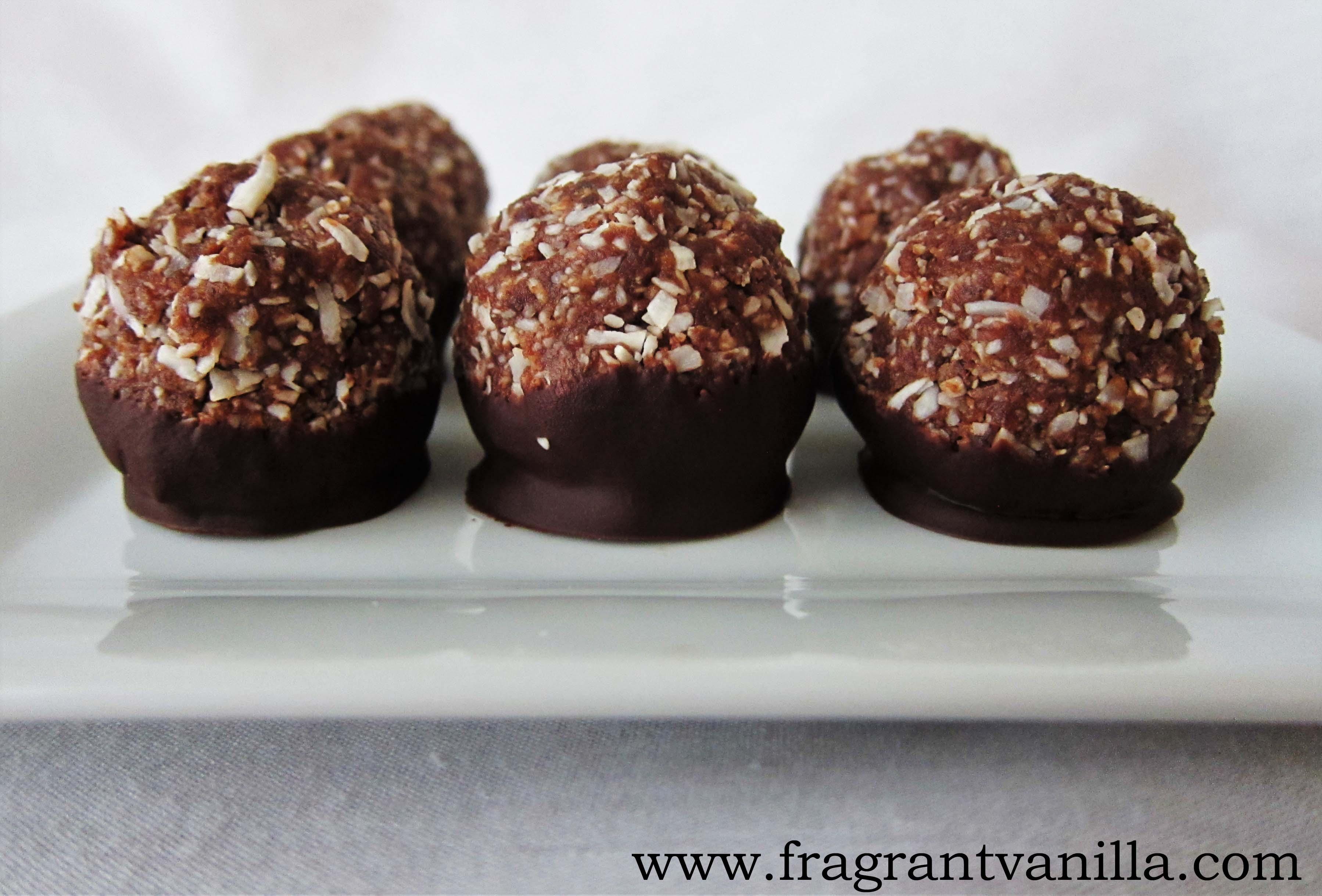 Raw German Chocolate Macaroons
