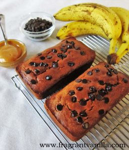 PB Banana Chocolate Chip Bread