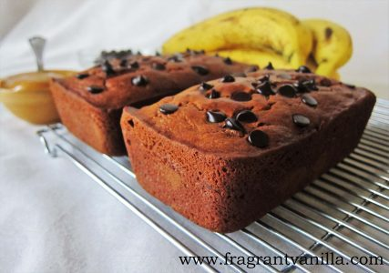 PB Banana Chocolate Chip Bread 1