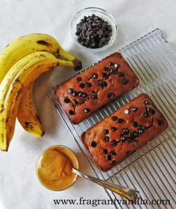 PB Banana Chocolate Chip Bread 3