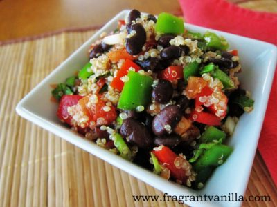 Spicy Veggie Quinoa Black Bean Salad 1