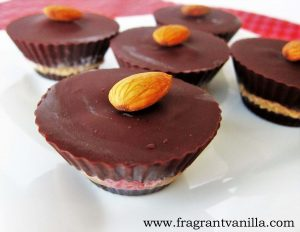 Strawberry Almond Butter Chocolate Cups 3