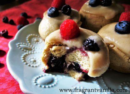 Summer Berry Sweet Rolls