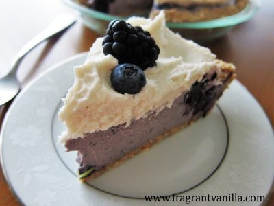 Black and Blue Berry Cheesecake Pie