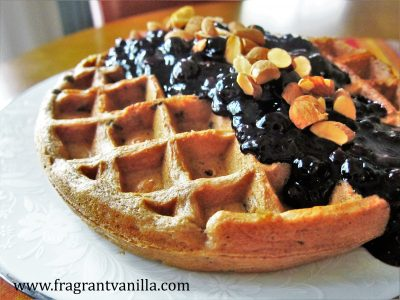 Blueberry Almond Waffles 1