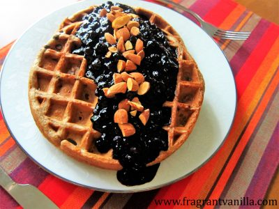 Blueberry Almond Waffles 2