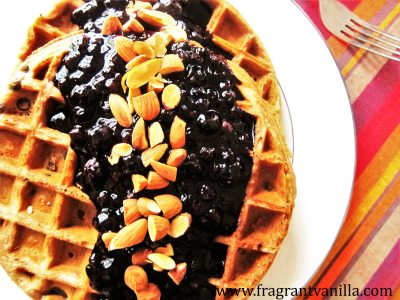 Blueberry Almond Waffles