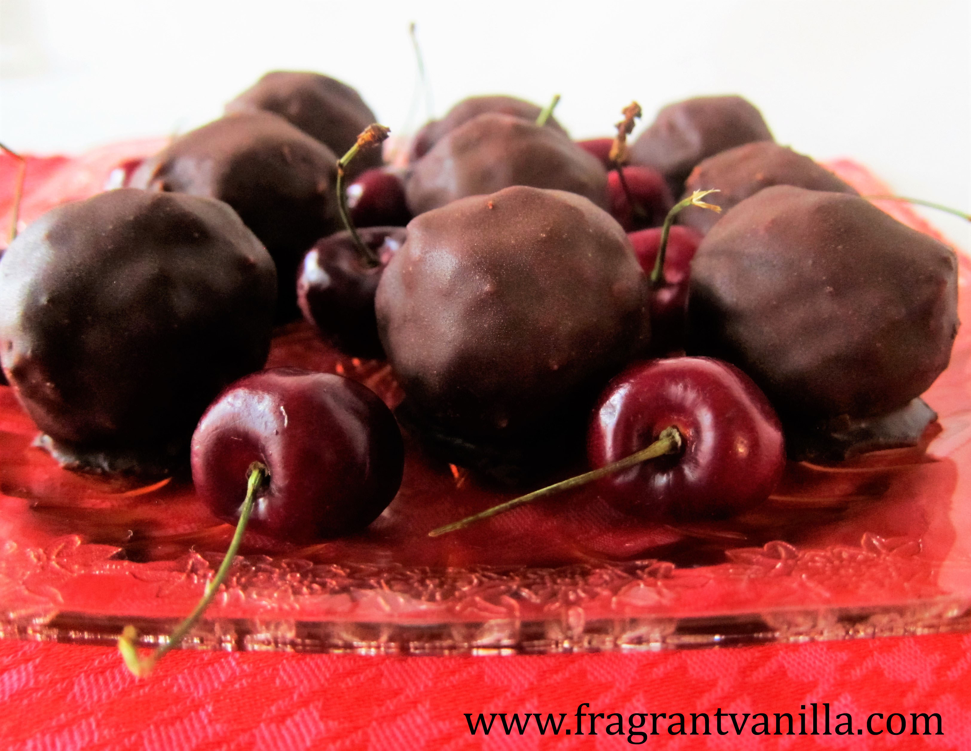 Raw Chocolate Covered Cherry Macaroons