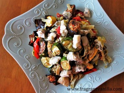 Summer Roasted Vegetable Pasta 1