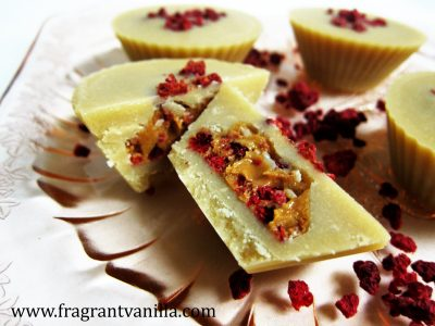 White Chocolate PB Raspberry Cups
