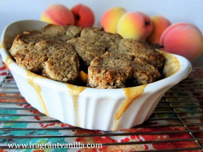 chipotle peach cobbler with pecan biscuits 4