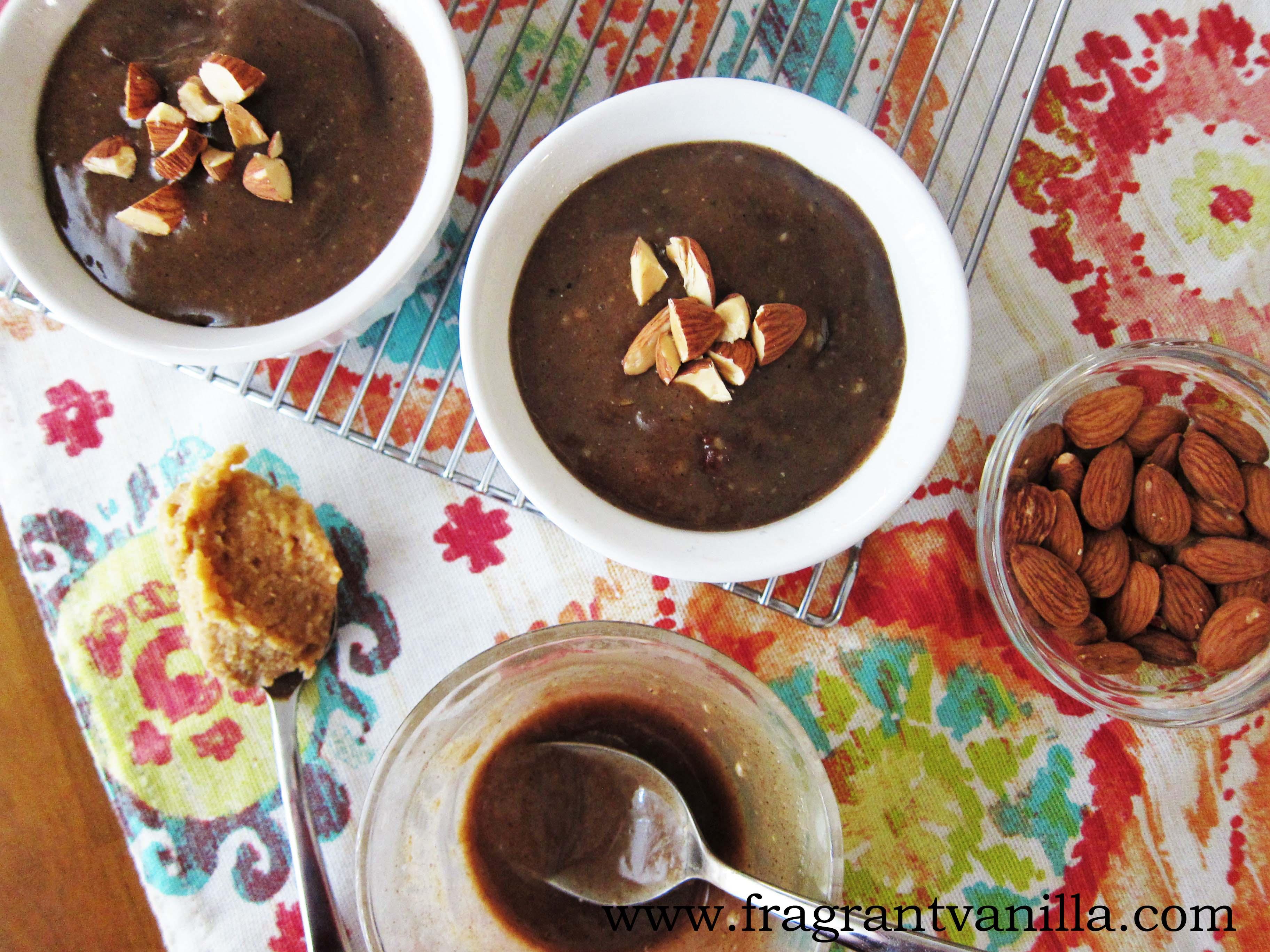 Vegan Miso Almond Brownie Cakes with Caramel