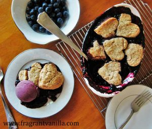 Blueberry Maple Cobbler with Pecan Biscuits 3