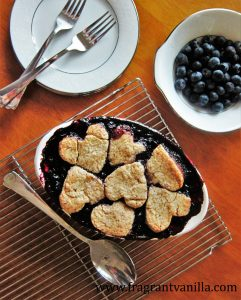 Blueberry Maple Cobbler with Pecan Biscuits 5
