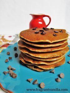 Chocolate Chip Cookie Pancakes 4