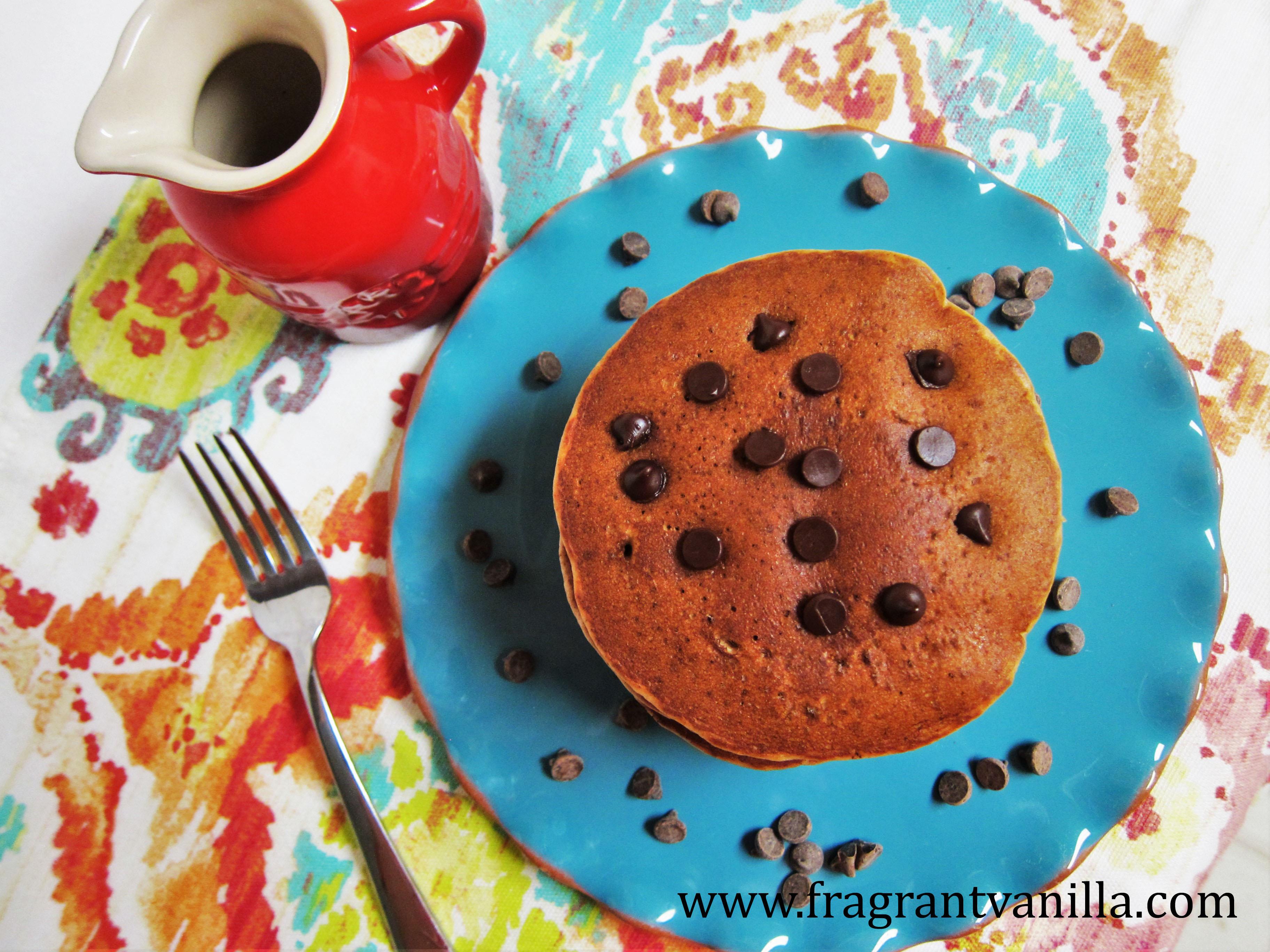 Vegan Chocolate Chip Cookie Pancakes
