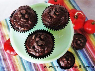 Chocolate Tomato Cupcakes 3