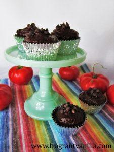 Chocolate Tomato Cupcakes 4