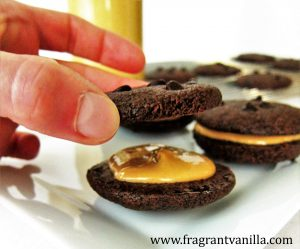 Dark Chocolate Peanut Butter Sandwich Cookies 2