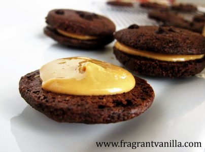 Dark Chocolate Peanut Butter Sandwich Cookies 3