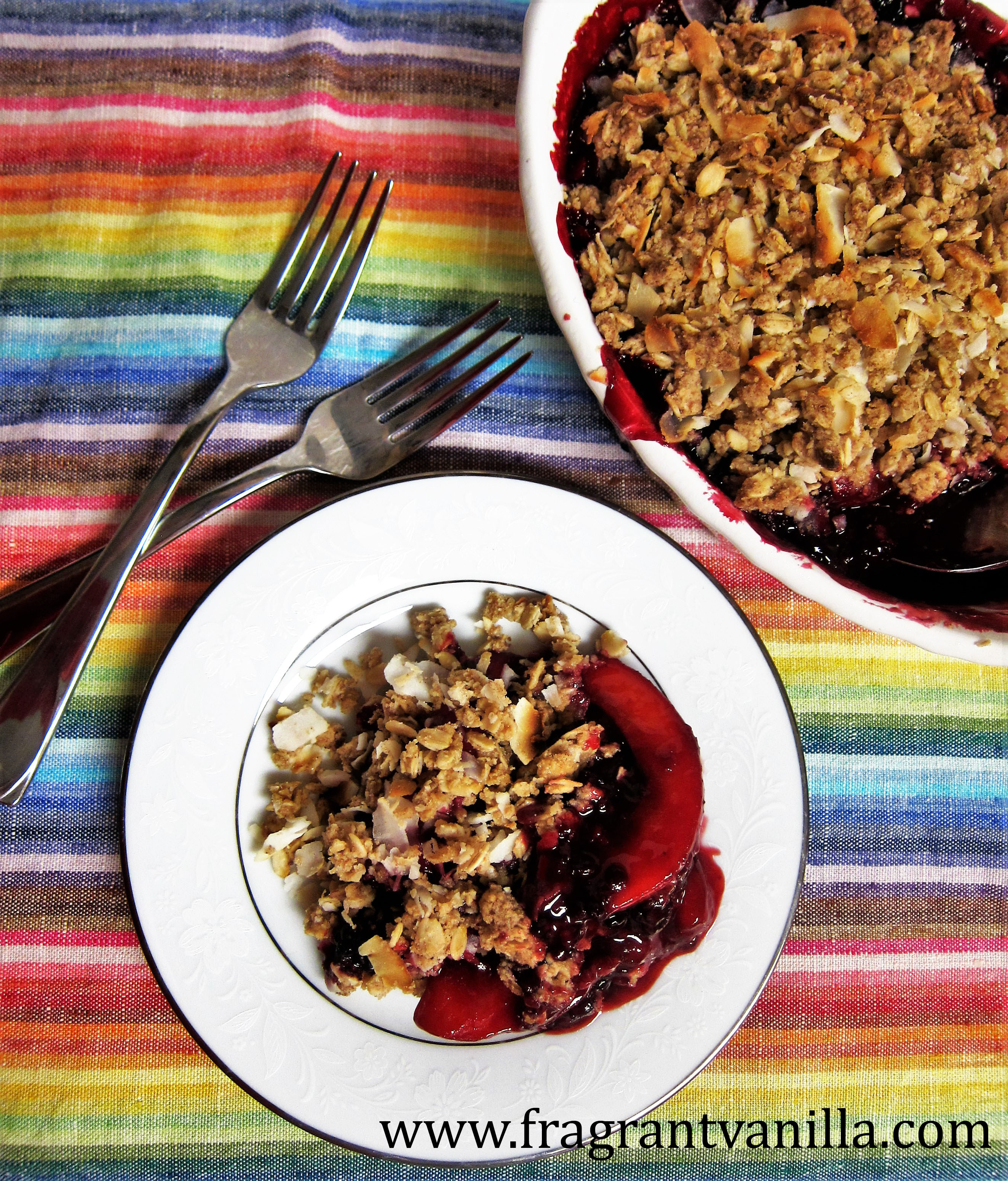 Vegan Marionberry Peach Crisp