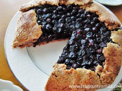 Vegan Blueberry Cream Cheese Galette 2