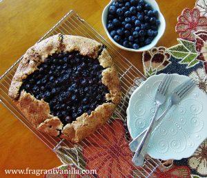 Vegan Blueberry Cream Cheese Galette 4