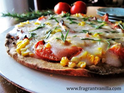 Vegan Roasted Tomato and Sweet Corn Pizza 5
