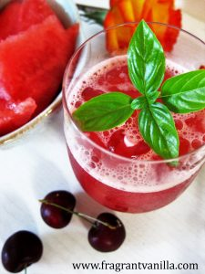 Watermelon Cherry Basil Cooler 1