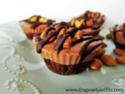 mini chocolate almond cheesecakes 3