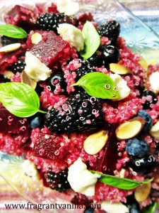 Berries and Beets Quinoa Salad with Chevre 1