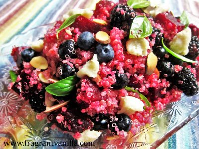 Berries and Beets Quinoa Salad with Chevre 2