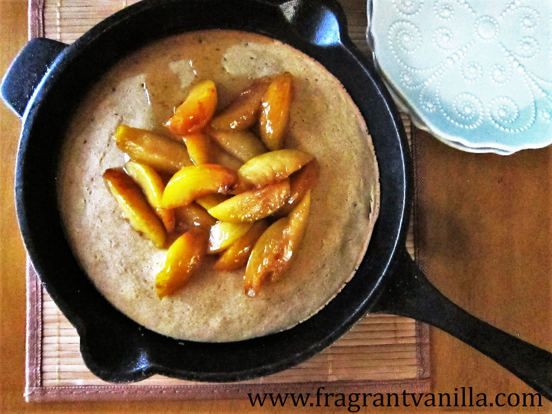 Giant Vegan Oven Pancake with Sauteed Pluots