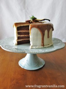 Pear Caramel Cake with Cream Cheese Frosting