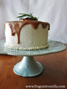 Pear Caramel Cake with Cream Cheese Frosting 4