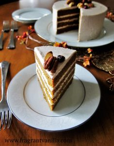 Pumpkin Spice Cake with Cinnamon Cream Cheese Frosting 2