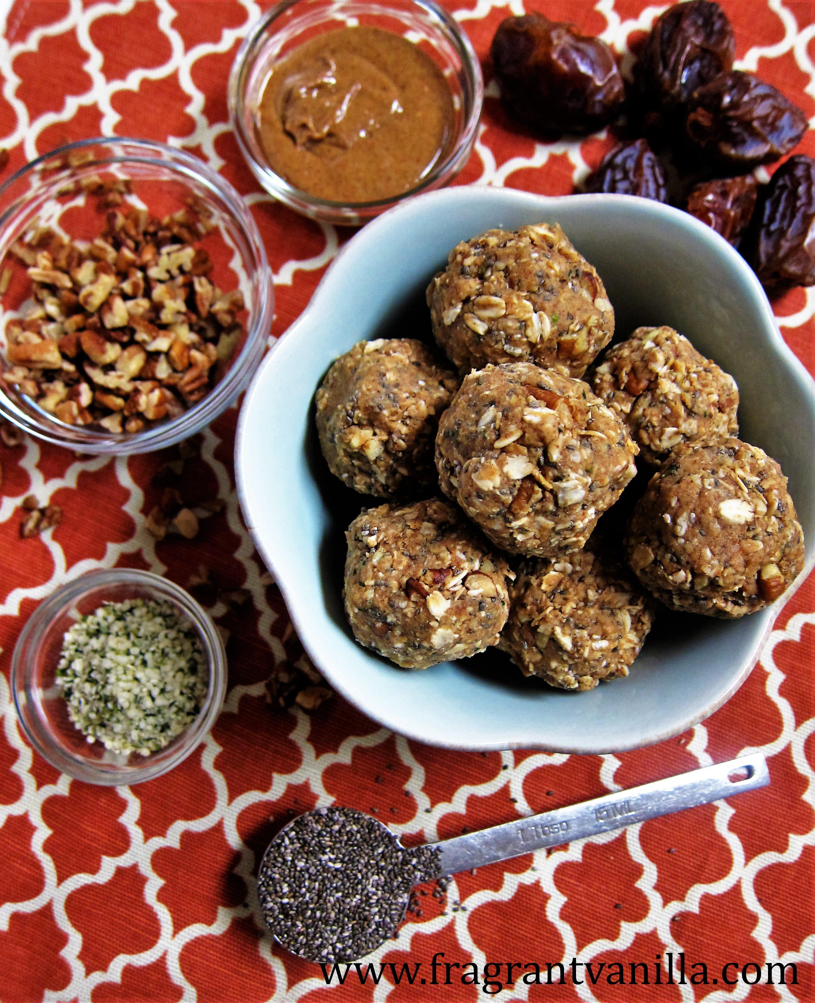 Raw Caramel Pecan Energy Bites