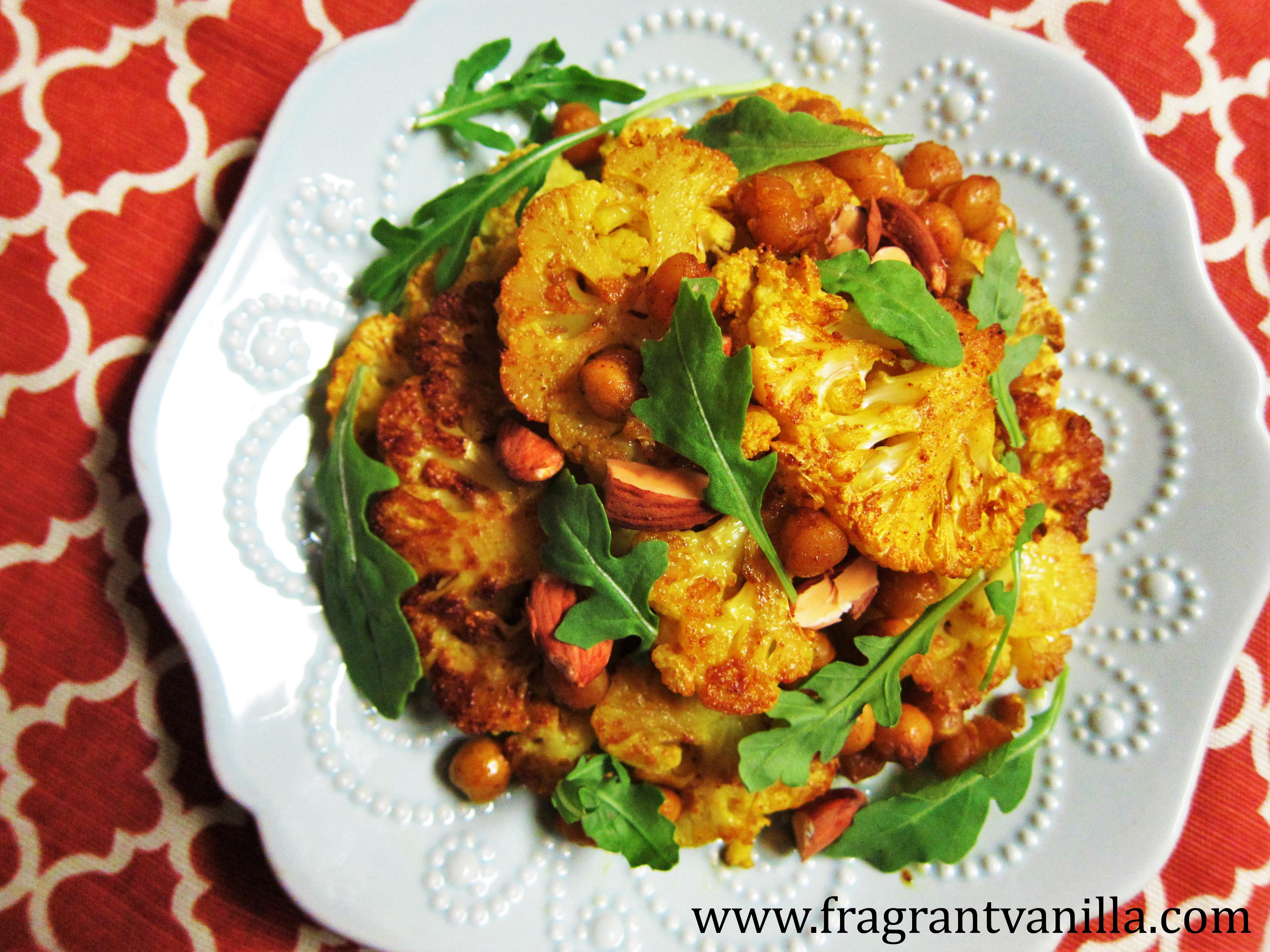 Golden Roasted Cauliflower and Chickpeas